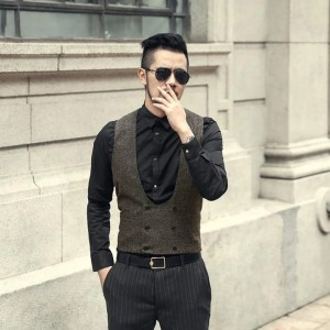 Winter Casual Double Breasted Vest