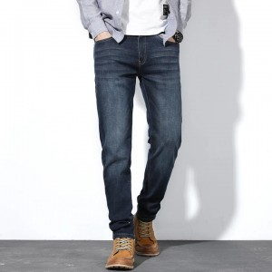 Spring/Autumn Casual Loose Stretch Straight Jeans