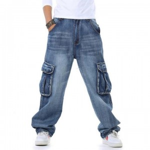 Cargo Jeans With Big Pockets
