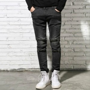 Straight Jeans With Zippers