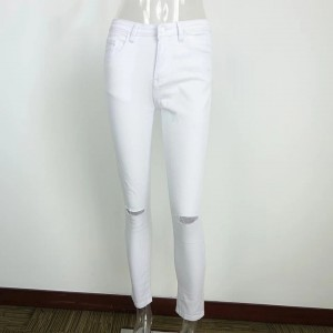 Cotton Jeans With Holes